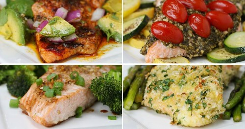 One Pan Salmon 4 Ways - Myolean Fitness