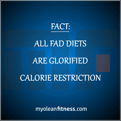 Fad Diets are Glorified Calorie Restriction - Why your fat loss diet sucks - Myolean Fitness