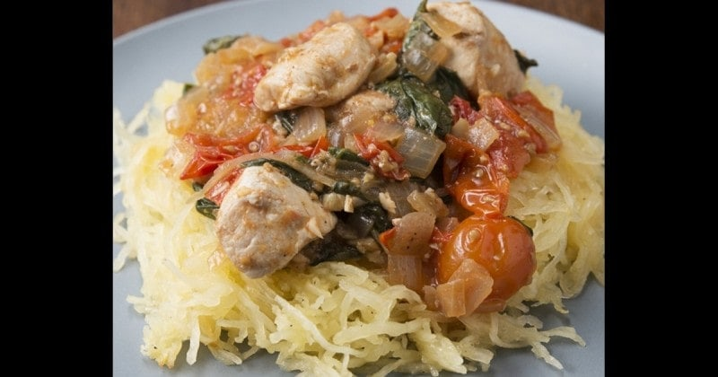 Lemon Chicken & Spaghetti Squash - Myolean Fitness