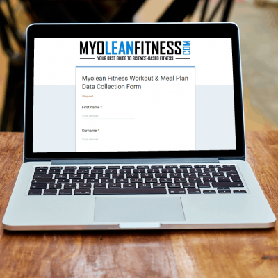 Data Collection Form for Custom-Made Workout Plan and Custom-Made Sample Meal Plan - Myolean Fitness
