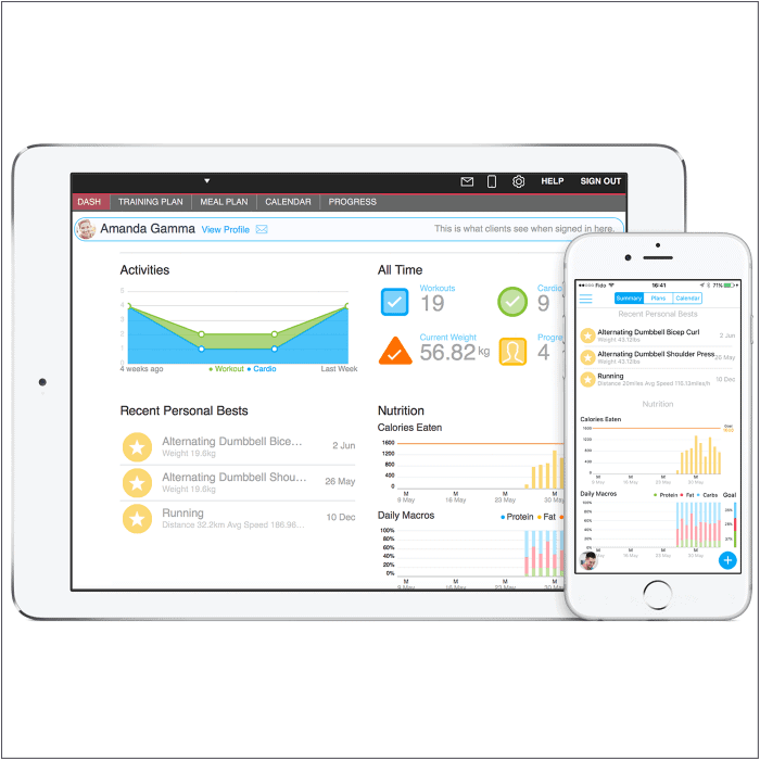 Online Fitness Coaching App Pad Phone