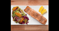 Sesame Salmon And Orange Coleslaw 500