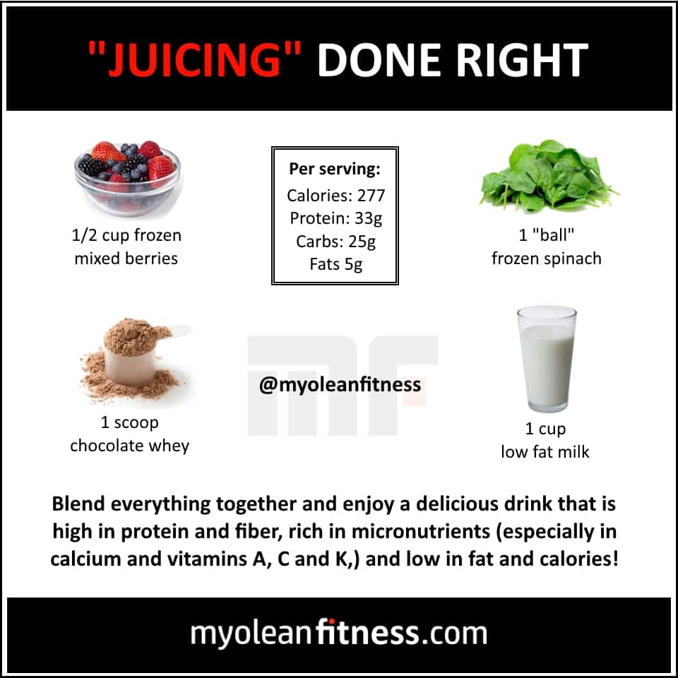 Juicing done right - Myolean Fitness Infographics