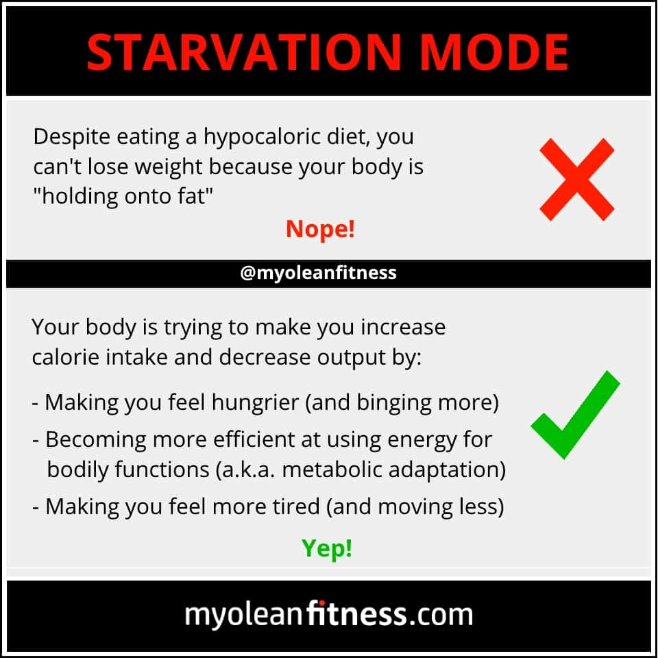 Starvation Mode - Myolean Fitness Infographics