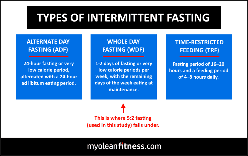 Intermittent Fasting vs Daily Caloric Restriction - Types of Intermittent Fasting - Myolean Fitness
