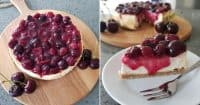 Low Fat Cherry Cheesecake