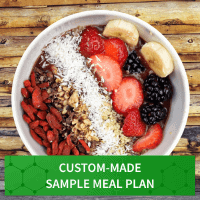 Custom Made Sample Meal Plan for Menu