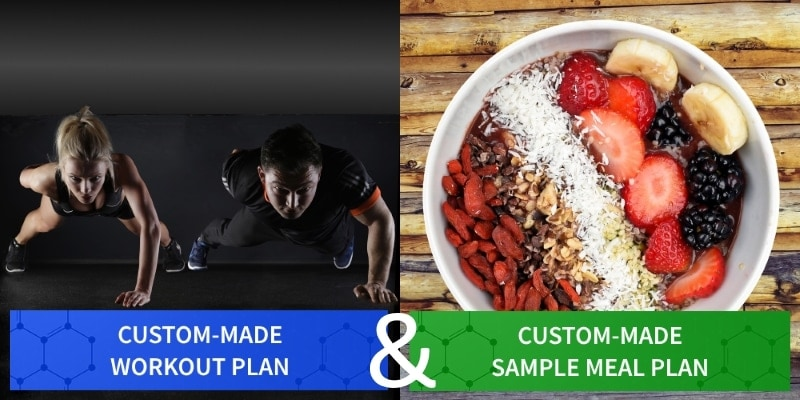 Custom Made Workout Plan and Sample Meal Plan for Testimonials - Myolean Fitness