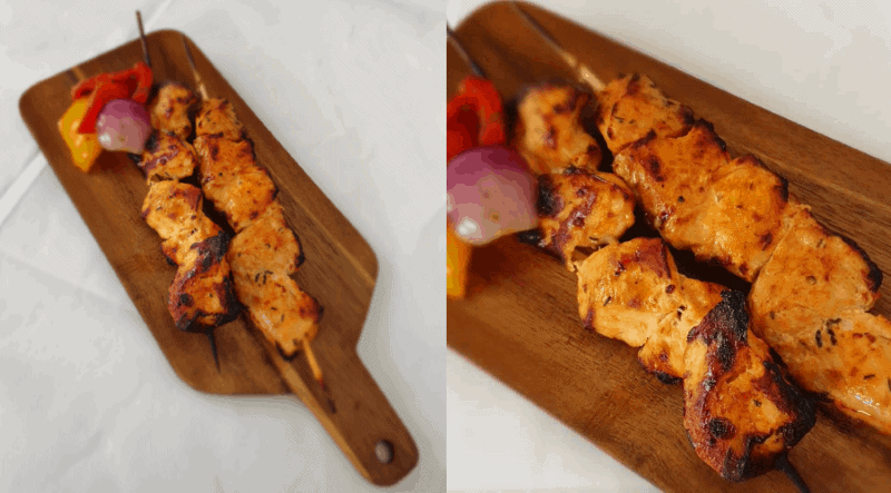 High Protein Lebanese Style Chicken Breast Skewers Recipe - Myolean Fitness (photo in text)