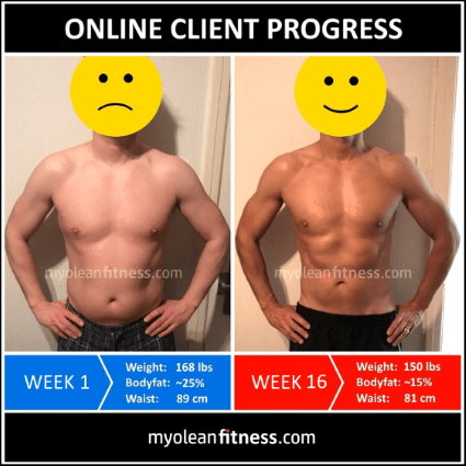 Online Fitness Coaching Transformation 4 - Myolean Fitness