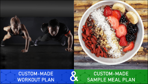 Custom Made Workout Plan and Sample Meal Plan for Blog Sidebar - Myolean Fitness