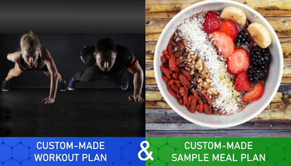 Custom Made Workout Plan and Sample Meal Plan for Quiz - Myolean Fitness