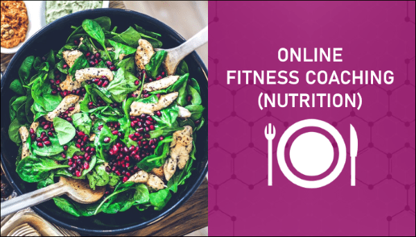 Online Fitness Coaching (Nutrition) for Blog Sidebar - Myolean Fitness