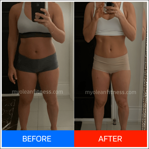 Anna Fat Loss Transformation - mobile 600 - Myolean Fitness